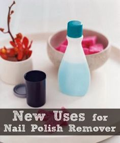 New uses for nail polish remover | www.inspirationformoms.com #sixonsaturday #newusesforthings #nailpolishremover