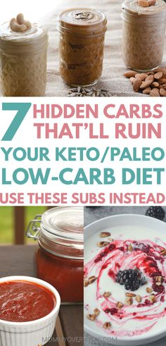 HIDDEN CARBS messing with a low-carb keto / paleo diet? Learn UNHEALTHY CARBS & BAD CARBS LIST to avoid & substitute with a LIST OF GOOD CARBS. HEALTHY CARBS FOR WEIGHT LOSS will help cut EMPTY CARBS from meals. Easy, healthy, homemade food / recipes for ketchup, condiments, salad dressing, Starbucks coffee, yogurt, protein bars, peanut butter vegan | vegetarian #ketodiet #ketodietrecipes #paleodiet #lowcarb #lowcarbrecipes #lowcarbdiet #vegetarian #vegetarianrecipes #homemaderecipes…