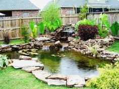 Now that's a koi pond. my backyard is big enough for this, i just need the motivation to get started