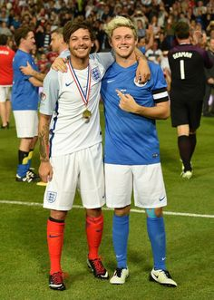 Louis and Naill at their charity game.