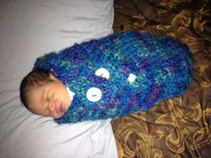 Knitted Baby Cacoon Model Ezekial  ~ Brenda Delaney