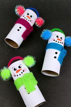Preschool Christmas, Christmas Ornament Crafts, Snowman Crafts, Holiday Crafts, Christmas Diy, Homemade Christmas, Christmas Snowman, Christmas Toilet Paper, Christmas Cards