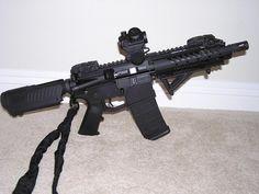 AR pistol- with CAA cheek rest