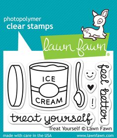 Lawn Fawn - Clear Acrylic Stamps - Treat Yourself at Scrapbook.com