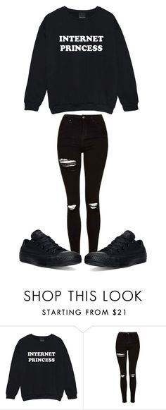 """"" by sydthekyd01 on Polyvore featuring Topshop and Converse"