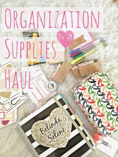 Love all of these cute embellishments for my planner and case to keep all of my goodies when traveling.