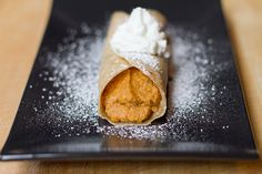 I love pumpkin pie... just not the crust.  So this is totally for me!  Pumpkin Pie Crepes!