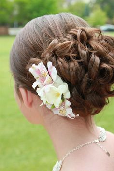 Updo for prom. Great for people with medium length hair.