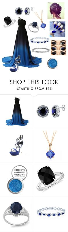 """""""Prom #2"""" by misskay15 ❤ liked on Polyvore featuring BERRICLE, Ellie, Frederic Sage, Obsessive Compulsive Cosmetics and Blue Nile"""