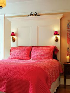 Bedroom - really like this headboard idea
