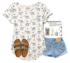 Elephants🐘 by tropical-girl-xo on Polyvore featuring polyvore, fashion, style, Levi's, American Eagle Outfitters, Casetify, Prism, Kate Spade, Essie, Hollister Co. and clothing