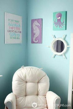 Under The Sea Nursery Count Waves Quote Wall Art
