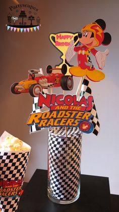Mickey and the Roadster Racers Centerpiece by Partyscapes