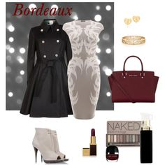 Bordeaux by silversilvia on Polyvore featuring moda, Alexander McQueen, Ted Baker, Burberry, MICHAEL Michael Kors, Tiffany & Co., Urban Decay, Tom Ford and HUGO