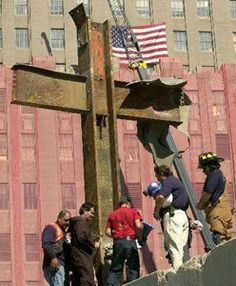 Look what was left from one of the a World Trade Center towers after the terrorist attack on ~ a perfect cross. God WAS there. We Will Never Forget, Lest We Forget, World Trade Center, Trade Centre, 11 September 2001, Fire Kids, British Rose, Rose Pictures, Pretty Pictures
