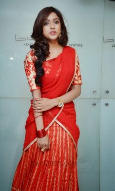 Vithika-half-saree-Mahabalipuram-audio-launch #half saree #vithika
