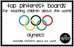 The Educators' Spin On It: Using the Summer Olympics to Learn about our World with Kids... Top Resources for Parents