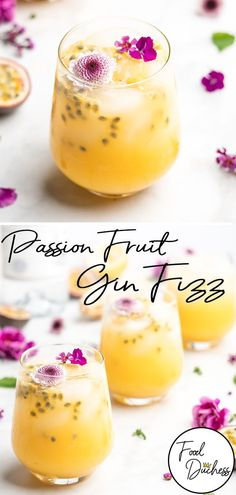 This Passion Fruit Gin Fizz Cocktail is bursting with flavor and incredibly simple to make! Passion fruit is the main star of the show in this gin based cocktail, with it's heavy tropical flavors that lean very slightly tart. Gin Fizz Cocktail, Gin Cocktail Recipes, Alcohol Drink Recipes, Cocktail Drinks, Cocktail Movie, Cocktail Sauce, Cocktail Attire, Cocktail Shaker, Cocktail Names