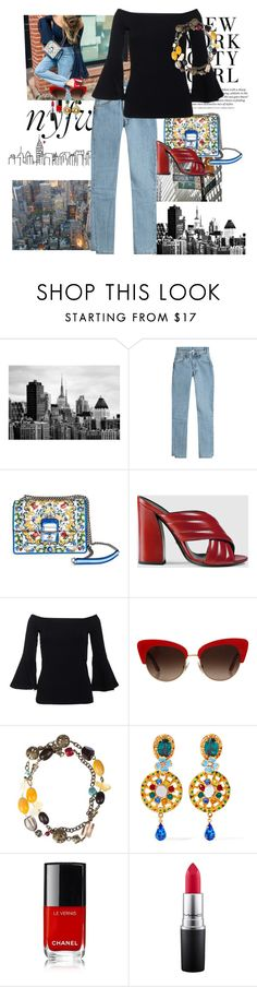 """""""From the street of new york"""" by claire86-c on Polyvore featuring moda, Vetements, Dolce&Gabbana, Gucci, MAC Cosmetics, StreetStyle e NYFW"""