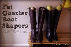 boot shapers: a happy stuff tutorial   happy stuff.