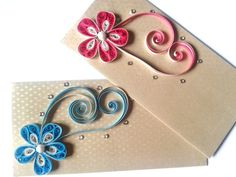 Rose flower model quilling envelope designs - quillingpaperdesigns