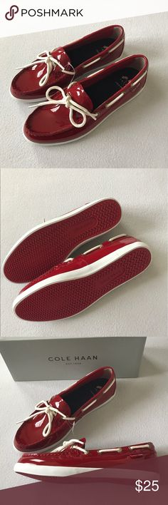 Cole Haan patent leather red shoes New with box. Price is firm. Cole Haan Shoes Moccasins