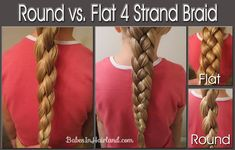 Flat and Round Four Strand Braid Tutorial from Babes in Hairland