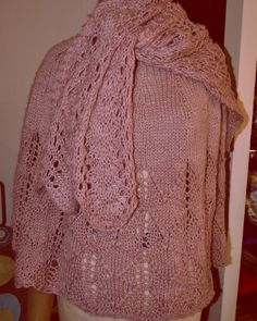 Strikket sæt poncho og sjal . Min mors julegave 2015