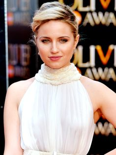 Dianna Agron attends The Olivier Awards at The Royal Opera House on April 12, 2015 in London, England.