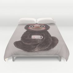 Buy ultra soft microfiber Duvet Covers featuring Sloth I♥yoga by Lime. Hand sewn and meticulously crafted, these lightweight Duvet Cover vividly feature your favorite designs with a soft white reverse side.