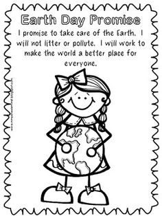 Large Earth Coloring Page- great for Earth Day crafts