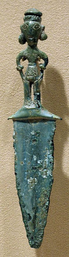 Bronze Dagger with a Handle in the Form of a Male Figure. Dongson Culture, Vietnam  500 B.C.–A.D. 300 Bronze and Iron Age.