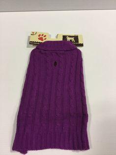 Holiday Winter Dog Purple Sweater Jacket Coat New Dog Cloths Size Med   eBay