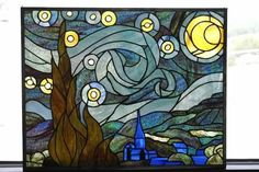Starry Night - Delphi Stained Glass