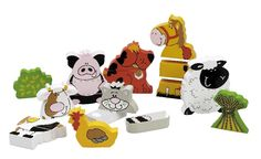 See our fabulous range of farm animal themed nursery and bedroom accessories including duck and sheep shaped mirrors, wall stickers and more. Bedroom Themes, Nursery Themes, Wooden Animals, Farm Animals, Preschool Block Area, John Crane, Phil And Teds, Animal Makeup, Plan Toys