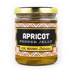 Apricots and jalapenos meet to make this amazing spicy-sweet pepper jelly. It's a must as an appetizer served over cream cheese wtih crackers. Try it chicken breasts--mix the pepper jelly with melted butter and glaze the chicken breasts just before they come off the grill.