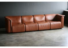 Large Modular Sofa from Wittmann Moebelwerkstaetten for sale at Pamono Small Sleeper Sofa, Sectional Sofa With Recliner, Leather Sectional Sofas, Sofa Couch, Couch Set, Sofa Seats, Small Sofa, Leather Sofa, Contemporary Sofa
