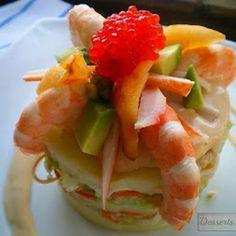 Kericocom: Pastel de ensalada tropical
