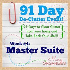 Declutter the master bedroom.