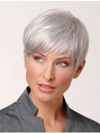Explore our collection of gorgeous wigs, extensions, and hair pieces. We have Remy Human Hair Cropped Hand-tied Grey Wigs for every occasion. Short Pixie Haircuts, Pixie Hairstyles, Short Hair Cuts, Straight Hairstyles, Short Hair Styles, Party Hairstyles, Short Wavy, Homecoming Hairstyles, Bob Hairstyle