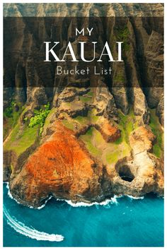 Wish list of things to do in Kauai, Hawaii - From mountain tubing to rum tastings and scenic hikes Kauai Vacation, Vacation Spots, Top Vacation Destinations, Italy Vacation, Kuai Hawaii, Hawaii Usa, Kauai Things To Do, Places To Travel, Places To See