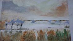 Landscape on poly-filla  (gypsum )