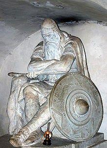 estátua do guerreiro Holger Danske, de uma famosa lenda dinamarquesa - está no…