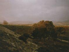 """Gerhard Richter, """"Evening"""", 1987  Catalogue Raisonné: 651-1. Imagen tomada de http://www.gerhard-richter.com"""