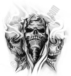 skull tattoo art | Flash Tattoos