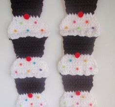 Instant download crochet  cupcake scarf  pattern instructions pdf