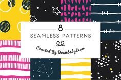 Illustrated Pattern Collection Vol.2 by DrawBabyDraw on Creative Market