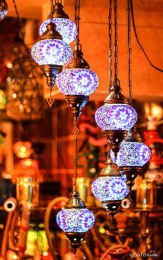 7 ball Arabian Mosaic Lamps Moroccan Lantern by BeautyofTurkey Moroccan Bedroom, Moroccan Interiors, Moroccan Decor, Moroccan Style, Turkish Lanterns, Turkish Lamps, Turkish Tiles, Bohemian Lighting, Romantic Master Bedroom