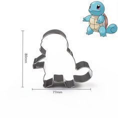 Pokemon Charmander Cake Mold Pastry Baking Metal Stainless Steel Cookie Cutter