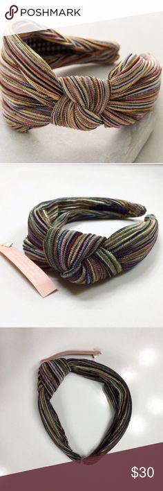 554377157d4d Anthropologie Striped Turban Side Knot Headband New with tags! Emin   Paul  for Anthropologie.